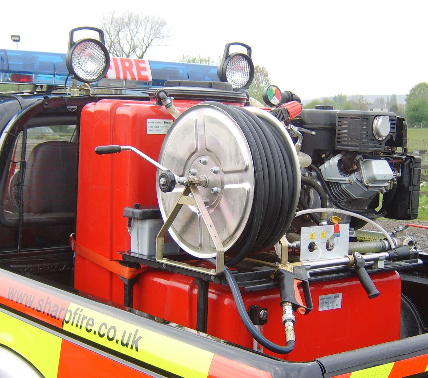 Tank Pump Sledges Sharp Fire and Rescue Service