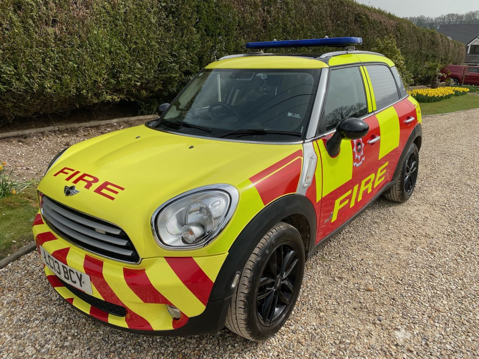 Incident Commander Vehicles Sharp Fire and Rescue Service
